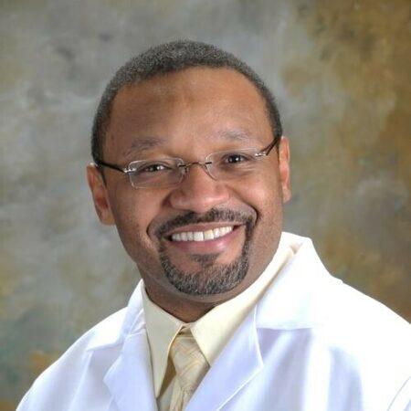 Wigginsshawn ob faculty white lab coat