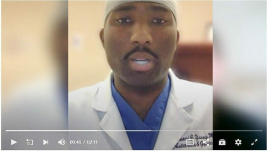 Dr Omari Young, in a video from Mid-Michigan Now, explains that moms don't transmit COVID19 to babies during pregnancy. April 14, 2020.