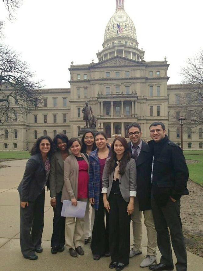 Dr Hanna-Attisha with Hurley resident physicians