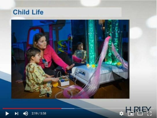 Peds website image for virtual tour of peds 2020 video child life